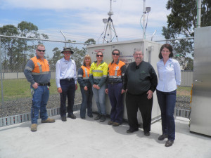 MCIG at the air quality station in Moranbah